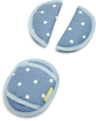 Gurtpolster-Set Babyschale Stars denim