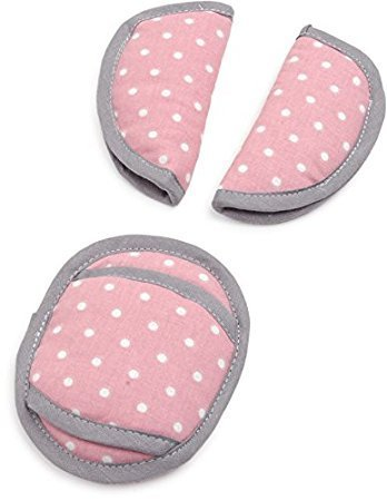 Gurtpolster-Set Babyschale Dots rose